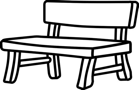 black and white bench park bence clipart black and white pencil and in color