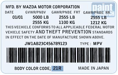 mazda touch up paint color code and directions for mazda paintscratch