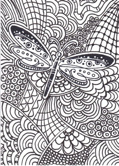 Dragonfly Zentangle Coloring Pages Pinterest Raising Zentangle Coloring Page