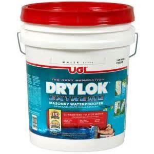 home depot waterproofing ugl 5 gal white drylok waterproofer 209101 the