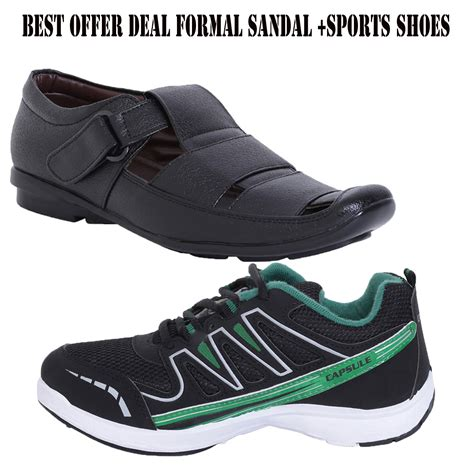 formal sports shoes combo offer of stylish formal sandals and columbus sports