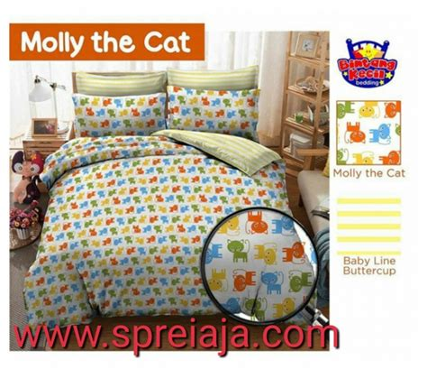 Bed Kecil Murah sprei bintang kecil motif molly the cat sprei