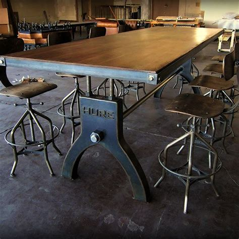 industrial dining room table alluring vintage industrial dining room table and best 25