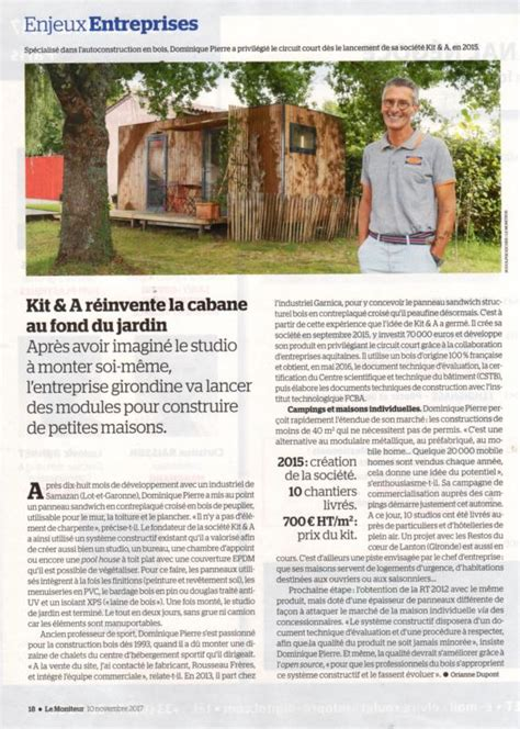 Module Bois En Kit by Abris Studio De Jardin En Kit Module Bois En Auto