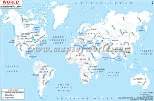 major rivers of map worldriver map shows the major rivers and lakes around