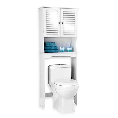 bathroom space saver white louvre bath space saver in white bed bath beyond