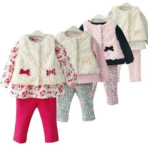 1set Carters by Newborn Baby Clothes 3 Faux Fur Vest Shirt