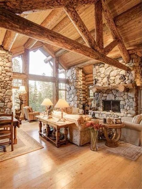 awesome log home interior interior log home open floor 220 ber 1 000 ideen zu restaurant inneneinrichtung auf