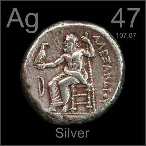 Silver Element tetradrachm a sle of the element silver in the