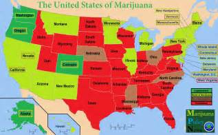 States Where Pot Is Legal Map by The United States Of Marijuana Medical Marijuana