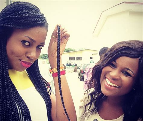 iyvon nelsons braids yvonne nelson shows off her lengthy braids hairstyle in