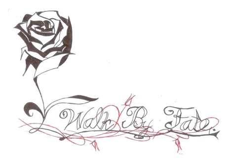 walk by faith tattoo design flower and walk by faith design