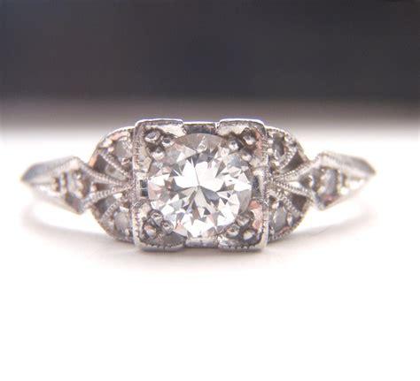 edwardian deco engagement ring quality platinum and