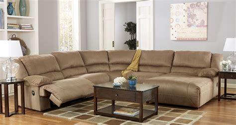 hogan mocha sectional hogan mocha right chaise reclining sectional from ashley