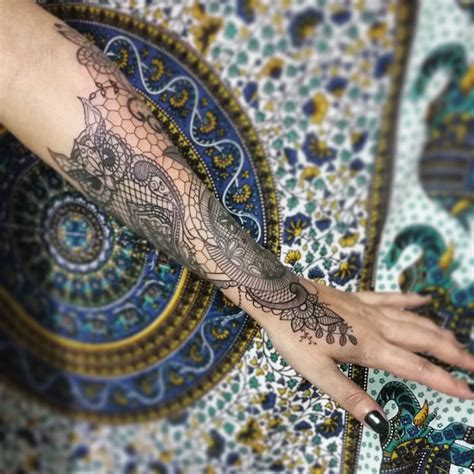 lace arm tattoo 60 best lace designs meanings and stunning