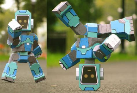 Paper Craft Robot - poseable robot paper