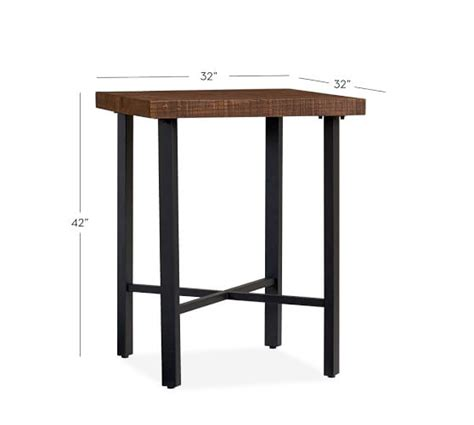 Pottery Barn Griffin Coffee Table Griffin Reclaimed Wood Bar Height Table Pottery Barn