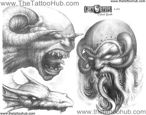 paul booth tattoo designs paul booth flash s by artist 187 paul booth