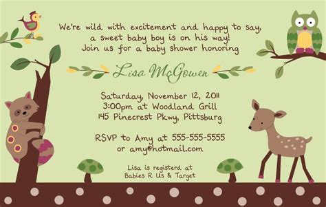 Enchanted Forest Baby Shower Invitations by 1000 Ideas About Forest Baby Showers On