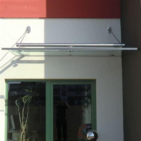 klemmprofile glasdach vordach aus glas mit rohrrahmen aus edelstahl