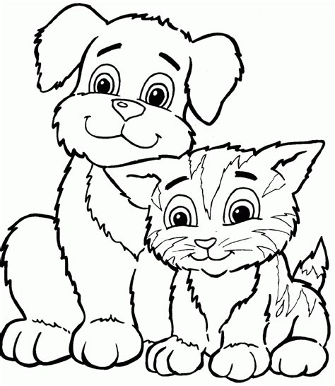 Coloring Page And Cat by Free Printable Cat Coloring Pages For