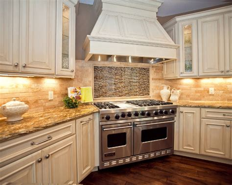 Backsplash Ideas For White Kitchens Glass Tile Backsplash Ideas With White Cabinets