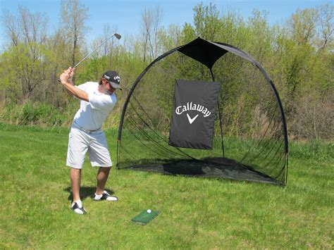 indoor golf swing practice callaway 9 tri ball hitting net by callaway golf golf