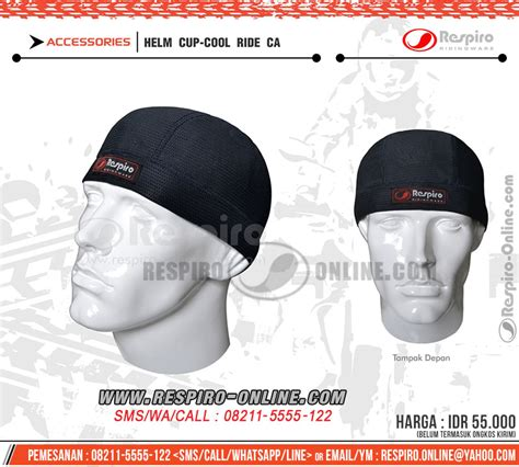 Penutup Kepala Shower Anti Air penutup kepala respiro helm cup coolride respiro