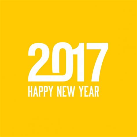 new year and yellow yellow background for the new year 2017 vector free