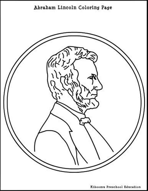 abraham lincoln coloring pages for kindergarten abe lincoln coloring page summer pre k curriculum
