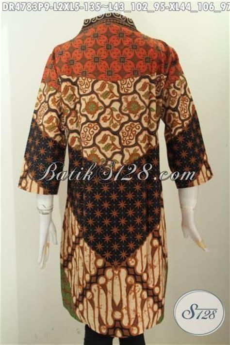 Baju Langsung 2 dress batik klasik motif sinaran baju batik elegan model kerah langsung berbahan adem proses