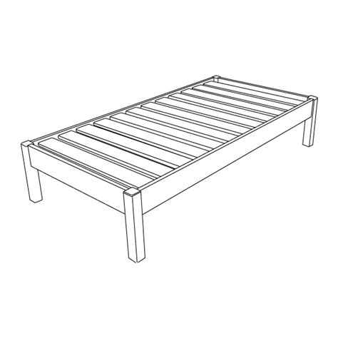 Bed Frame Without Footboard Metal Bed Frame W Locking Rug Roller Wheels Headboard