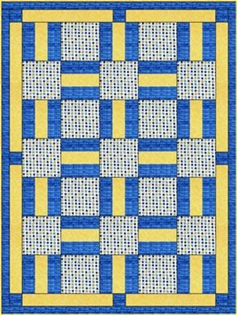 quilt pattern with three fabrics porch rails downloadable 3 yard quilt pattern porch