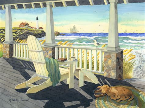 beach house paintings east coast beach life an artist s life blog from artfixdaily com