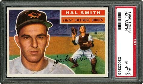 Hal Smith Gift Card - 1956 topps hal smith psa cardfacts