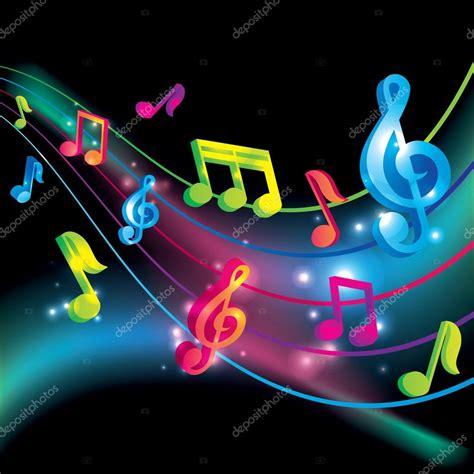 imagenes para logos musicales fondo de vector vector notas musicales vector de stock