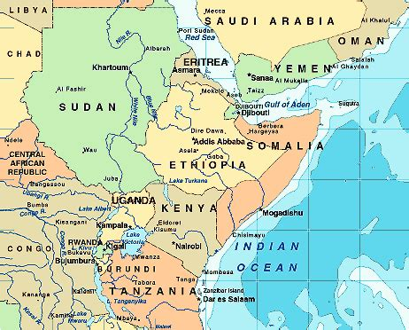 east africa map pictures