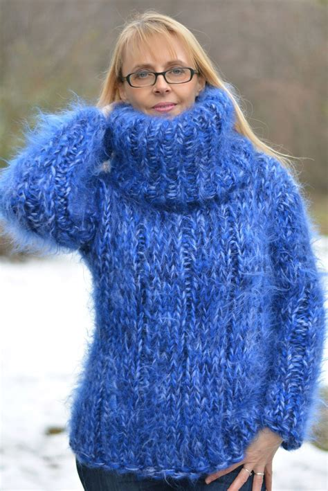 Handmade Knitted Jumpers - http www ebay itm dukyana knit mohair sweater