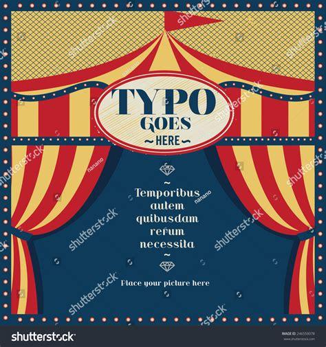 circus tent card template circus theme wedding invitation card greeting stock vector