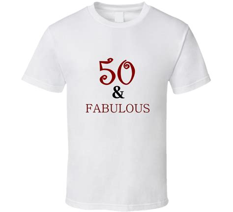 Tshirt Instagram 50th birthday 50 and fabulous milestone birthday t shirt
