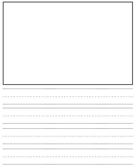 printable lined paper for pre k preschool writing drawing paper flickr photo sharing