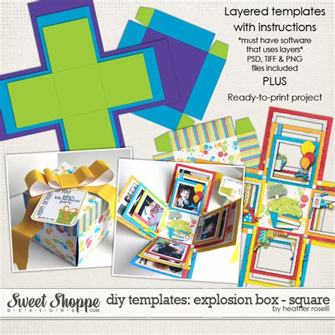exploding box card template free cool templates card exploding