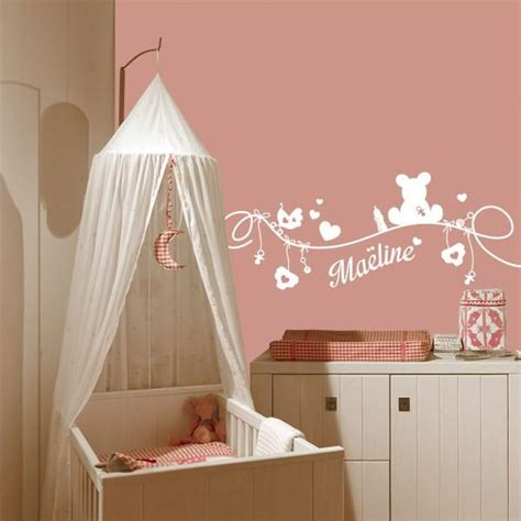 stickers chambre bebe fille d 233 licieux stickers muraux chambre bebe pas cher 11 deco