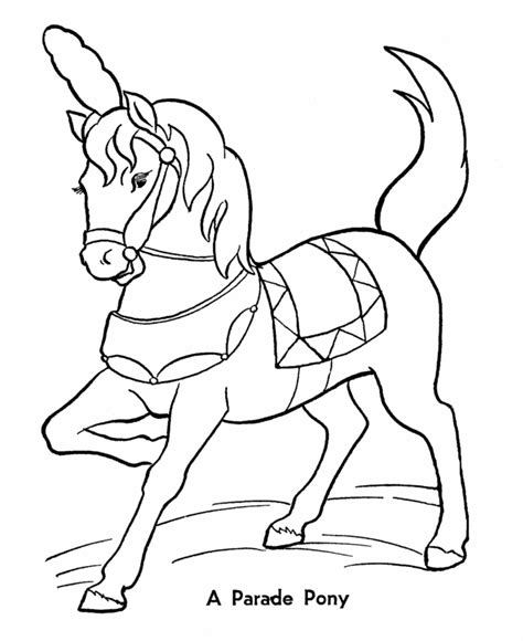 big coloring pages of horses circus parade pony coloring pages printable performing