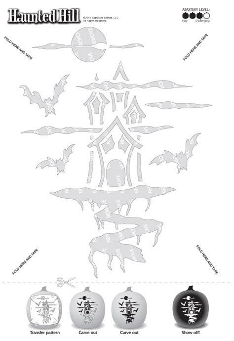haunted house pumpkin template invitation template