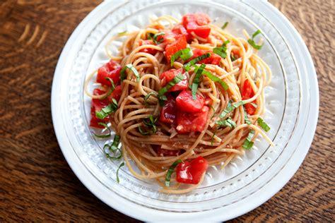 tomato pasta recipe the flour sack buttery tomato pasta with garlic basil