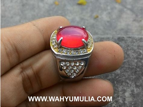 Cincin Baron Merah Darah batu cincin carnelian akik darah kode 346 wahyu mulia