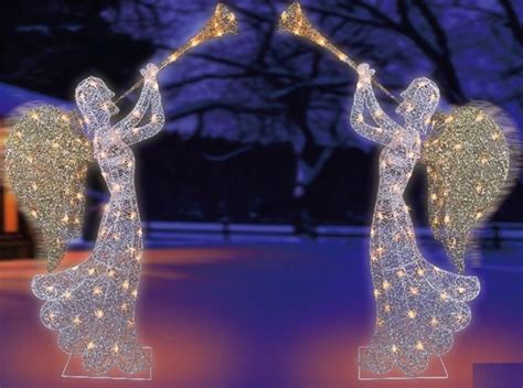 outdoor christmas angel with trumpet princess decor
