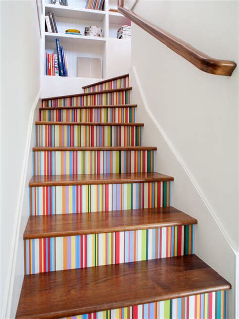 Staircase Wall Painting Ideas 19 Painted Staircase Ideas For Your Home Decor Inspiration