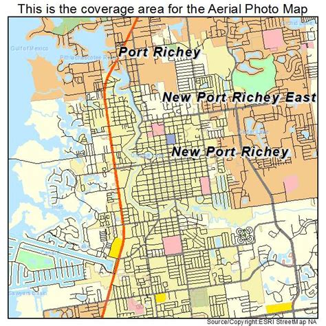 where is new port richey florida on florida map aerial photography map of new port richey fl florida
